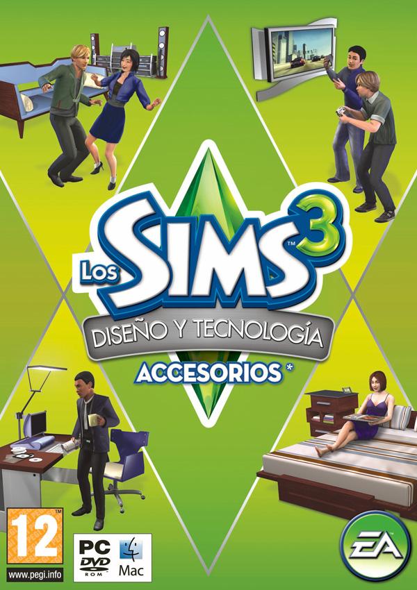 Los Sims 3 Diseño y Tecnologia pack de accesorios info